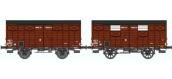 REE WB251 - Set de 2 Wagons COUVERT OCEM 19 Ep.III A