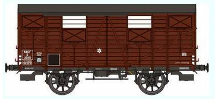 REE WB254 - Wagon COUVERT OCEM 19 Ep.III B