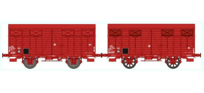 REE WB255 -  Set de 2 Wagons COUVERT OCEM 19 Ep.IV