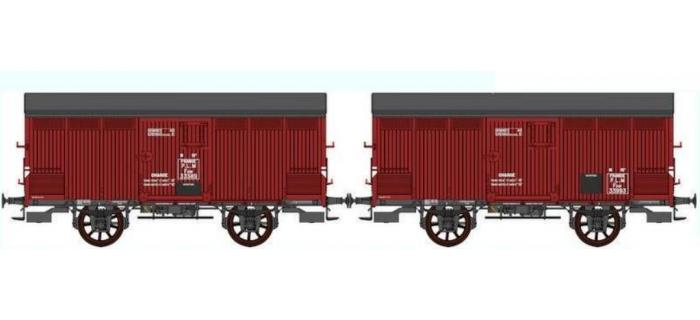 REE WB257 -  Set de 2 Wagons PRIMEUR PLM Type I / Ep.II – PLM