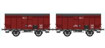 REE WB258 - Set de 2 Wagons PRIMEUR PLM Type II / Ep.II – PLM