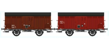 REE WB259 - Set de 2 Wagons PRIMEUR PLM Type I / Ep.III A