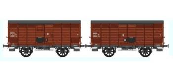 REE WB260 - Set de 2 Wagons PRIMEUR PLM Type II / Type III - Ep.III A