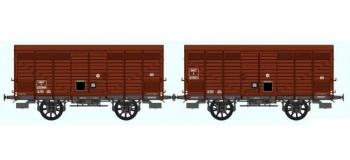 REE WB 261 - Set de 2 Wagons PRIMEUR PLM Type III Ep.III B