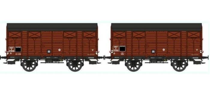REE WB265 - Set de 2 Wagons COUVERT PLM Ep.III A