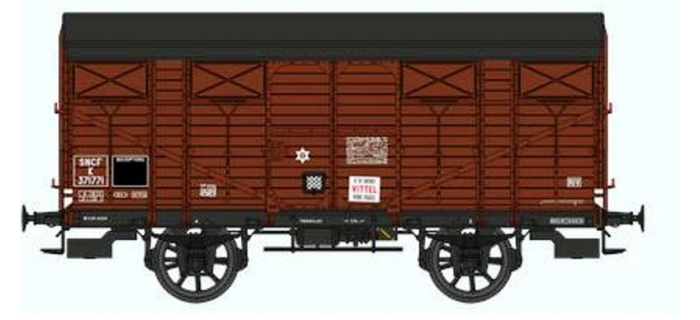 REE WB268 - Réf. WB-268 - Wagon COUVERT PLM Ep.III
