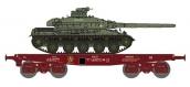 Train électrique :  REE WBA-009 - Wagon Porte-char Rlmmp + Char AMX 30B - 1DB 6ème Dragons 3ème Esc