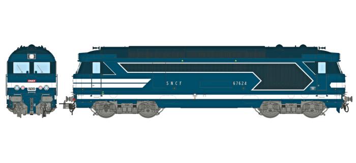 Modélisme ferrovaire : REE MB-067S - Locomotive diesel BB 67400 Ep.III-IV, Dépôt de Limoges, DCC Sonorisée - Echappement Fumée