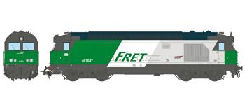 Modélisme ferrovaire : REE MB-069SAC - Locomotive diesel BB 67400 Ep.V, Dépôt de Longueau, AC 3 rails Sonorisée - Echappement Fumée