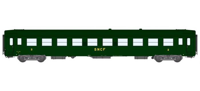 Modélisme ferrovaire : REE VB-107 - Voiture UIC Ep.III Vert, logo Prototype