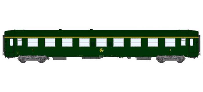 Modélisme ferrovaire : REE VB-126 - Voiture UIC Ep.III Vert, Logo Rond.