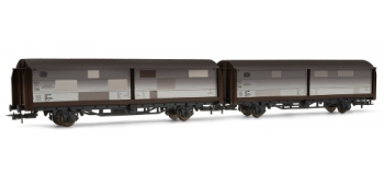 RIVAROSSI HR6081 coffret 2 wagons couverts portes coulissantes type Hbis299, patiné, DB TRAIN ELECTRIQUE