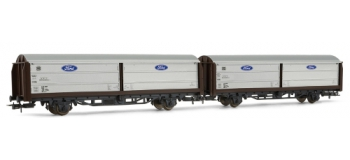 RIVAROSSI HR6082 coffret 2 wagons couverts portes coulissantes type Hbis 299