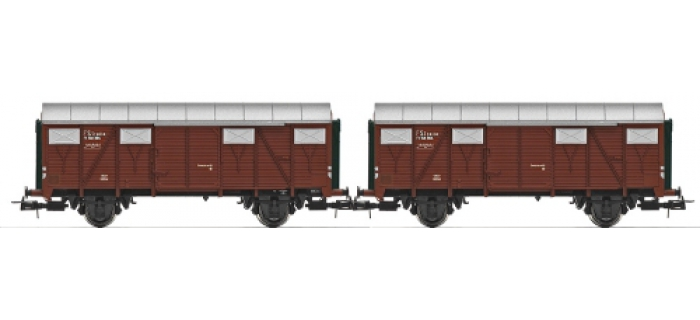 2 wagons couverts FS ,type FI, époque III.*