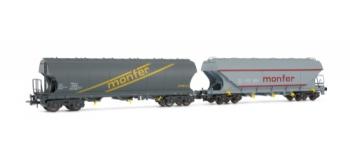 Set 2 wagons trémie MONFER dif. type, F.S.*