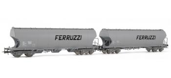 RIVAROSSI HR6100 Set 2 wagons trémie FERRUZZI, FS*