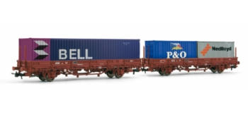 Set 2 wagons plat, type Kbs