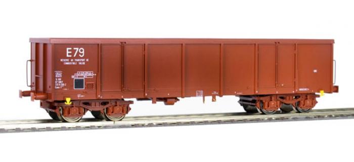 R76802 - Wagon tombereau brun E79 - Roco