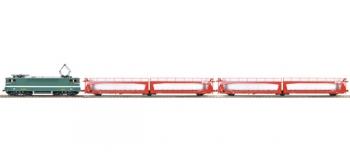 R625221 - Rame BB 9229 Oullins + 2 wagons porte-autos - Roco