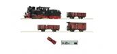 Modélisme ferroviaire : ROCO R31031-  Coffret de départ numérique z21: Locomotive à vapeur HF110 et wagons de marchandises DDR