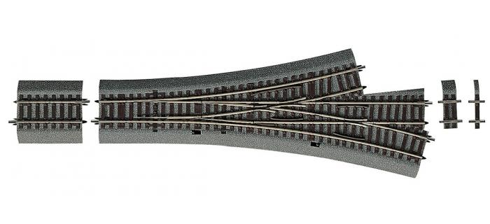 Modélisme ferroviaire : ROCO - R42543 - Aiguillage triple asymétrique DWW15
