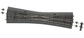 Modélisme ferroviaire : ROCO R42591 - Traversée-jonction simple EKW10