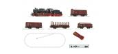 R51318 - Coffret de départ digital, train marchandises avec locomotive à vapeur - Roco