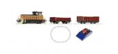 Train électrique : ROCO R51156 - Coffret de départ analogique : petite locomotive diesel et train de marchandises