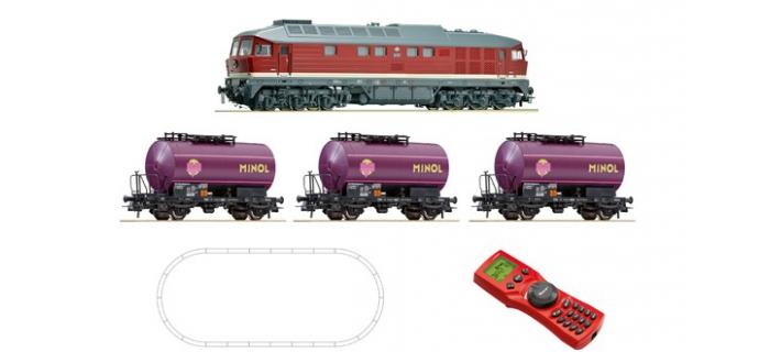 Modélisme ferroviaire : ROCO R51271 - Coffret de départ digital : locomotive diesel et wagon de marchandises