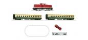 Modélisme ferroviaire : ROCO R51284 -  Coffret de départ numérique z21: Locomotive diesel class 112 avec voitures voyageurs DR