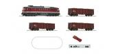 Modélisme ferroviaire : ROCO -  R51292 - Coffret de départ numérique z21: Locomotive diesel série 132 avec train de marchandises de la DR