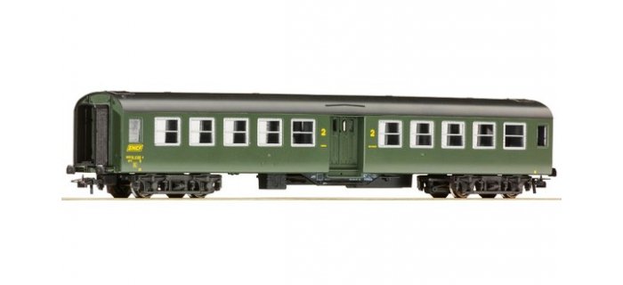 Train électrique : ROCO R54310 - Voiture «Bruhat » 2. cl., SNCF, Ep IV