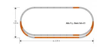 Modélisme ferroviaire : ROCO R61152 - Coffret de rails, set d'extension C 1