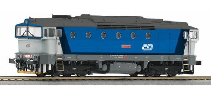 R62916 LOCO DIESEL Rh754 CD train electrique