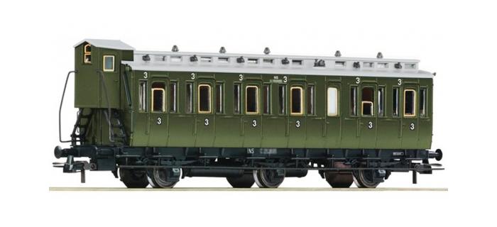 Train électrique : ROCO R64467 - Voiture 3 essieux 3cl NS