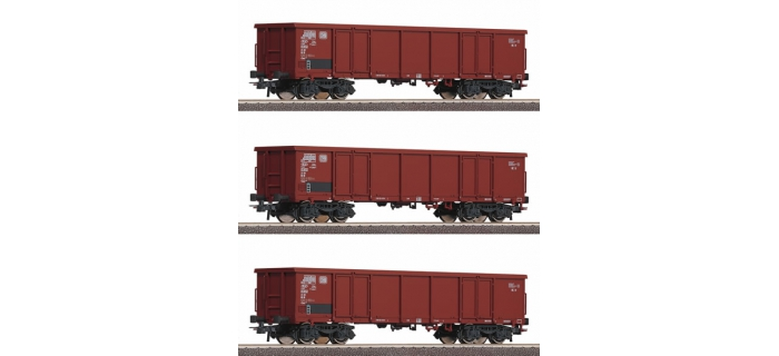 R66124 SET 3 WAG.TOMBEREAU DB train electrique