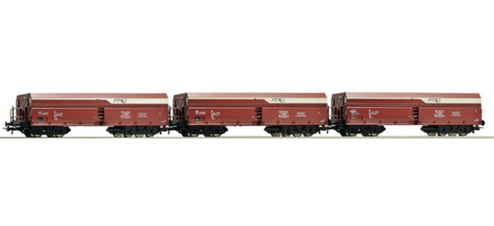 Train électrique : ROCO R67094 - Set 3 wagons trémie PKP 6