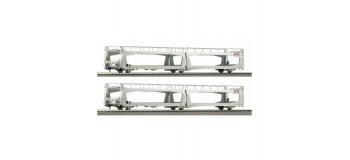 Modélisme ferroviaire : ROCO R67284.1 - Lot de 2 wagons porte Auto STVA.