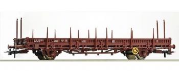 Train électrique : ROCO R67481 - Wagon plat à essieux
