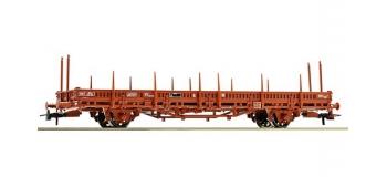 Train électrique : ROCO R67489 - Wagon plat à Ranchers SNCF