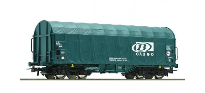 Modelisme ferroviaire : ROCO R 67576 - Wagon à bâches coulissantes SNCB
