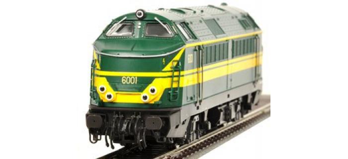 Train électrique : ROCO R68890 - Locomotive diesel série 60 N°6001 de la SNCB