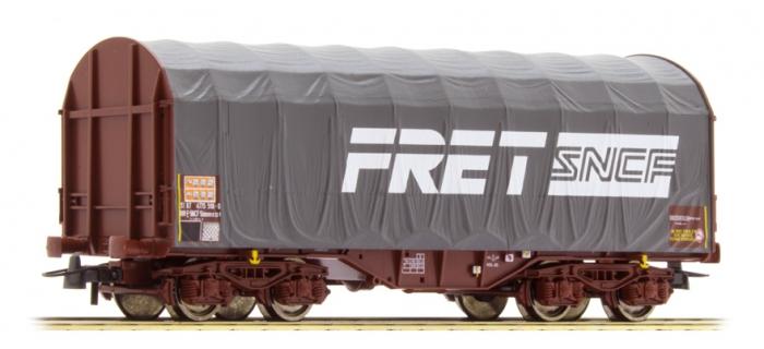 Modélisme ferroviaire :  ROCO R76443 - Wagon à bâches coulissantes FRET
