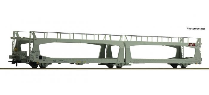 Modélisme ferroviaire : ROCO R76838 - Wagon porte Auto STVA.