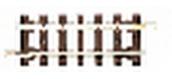 roco 32203 Rail droit Hoe, 47,9 mm
