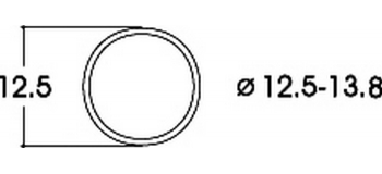 modelisme ferroviaire roco R40066 Bandages d'adhérence, 12,5-13,8 mm (x10)