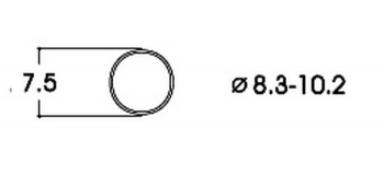 modelisme ferroviaire Bandage d'adhérence CC 8,3-10,2 mm roco 40068