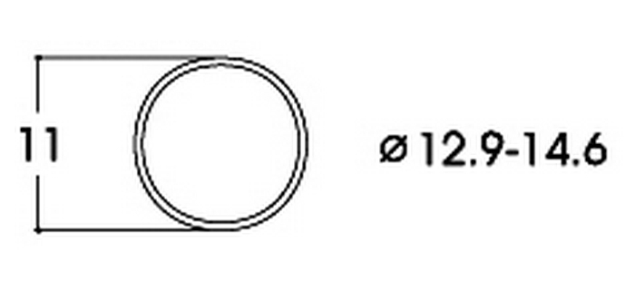 MODELISME FERROVIAIRE ROCO 40070 Bandage d'adhérence CC 12,9-14,6 mm