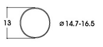 modelisme ferroviaire roco 40071 Bandage d'adhérence CC 14,7-16,5 mm