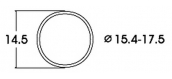 modelisme ferroviaire roco 40076 Bandage d'adhérence CC 15,4-17,5 mm